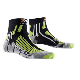 X-Socks Run Speed Two Socks Men Black/Green Lime